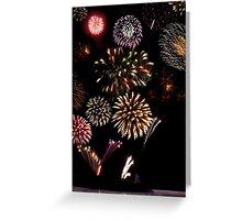 ballybunion ireland new year fireworks display Greeting Card