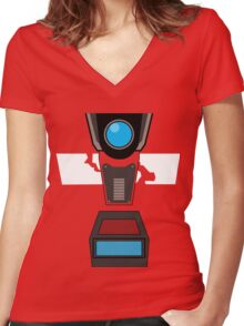 CL4P-TP Face Women's Fitted V-Neck T-Shirt