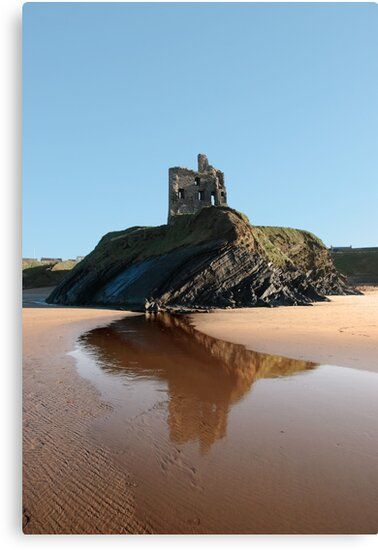 Ballybunions castle on the cliffs edge by morrbyte