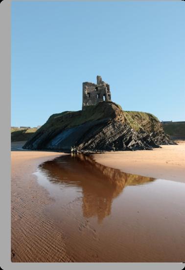 Ballybunions castle on the cliffs edge by morrbyte