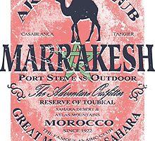 Sahara camel - Morocco Flag by Port-Stevens