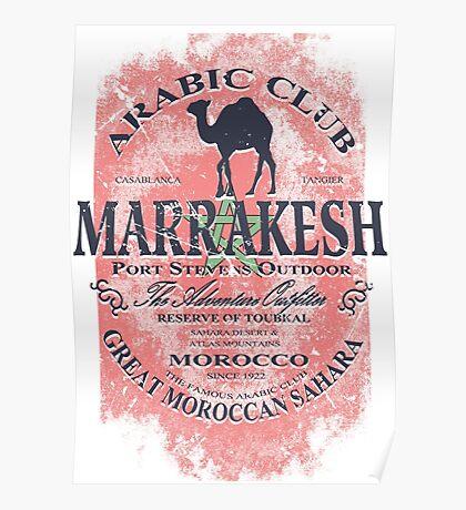Sahara camel - Morocco Flag Poster