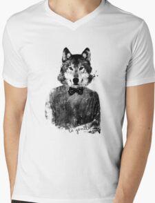 be gentle Mens V-Neck T-Shirt