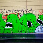 Green Monsters - Prague by Reuben Reynoso