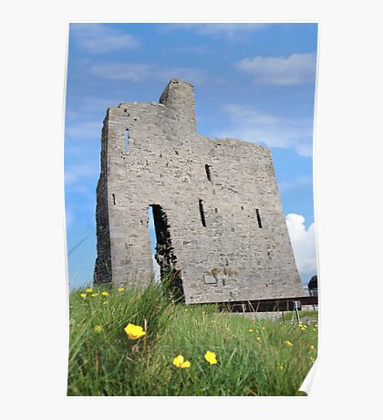 Ballybunions old castle ruins Poster
