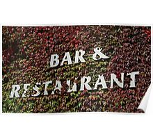 bar and restaurant sign Poster
