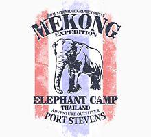 Mekong Expedition - Elephant Camp - Thailand Flag Unisex T-Shirt