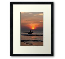 bathing beauties at sunset Framed Print