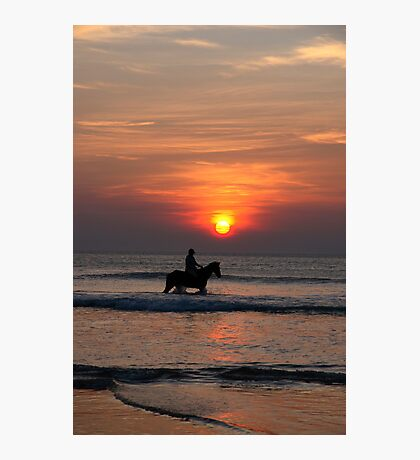 bathing beauties at sunset Photographic Print