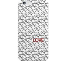"""""""Crazy, Love"""" Typography Pattern in Black White  iPhone Case/Skin"""