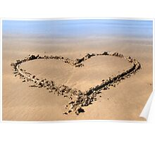 beachy love heart Poster