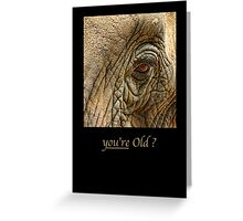 you're old ? Greeting Card