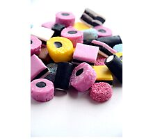 Old Fashioned Retro Sweet Shop Pile of Colourful Liquorice Sweets Photographic Print