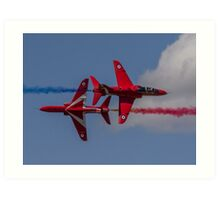 Red Arrows Synchro Pass Art Print