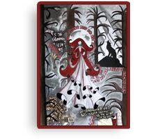 Red Riding Hood Dada Doll Canvas Print