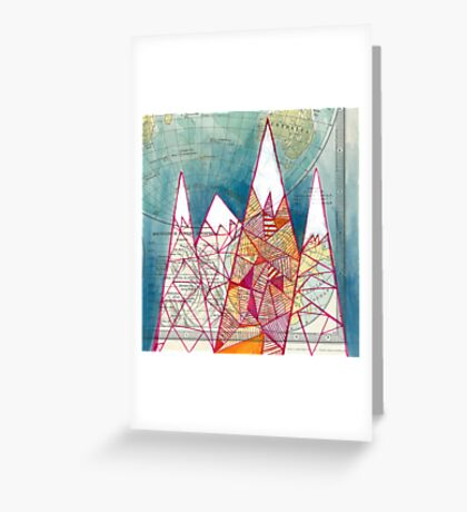 The Geometry of Geography Greeting Card