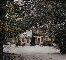 Winter Cottage by Gordon  Beck