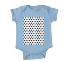 Polkadots Black and White One Piece - Short Sleeve