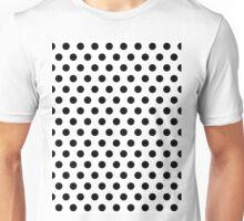 Polkadots Black and White Unisex T-Shirt