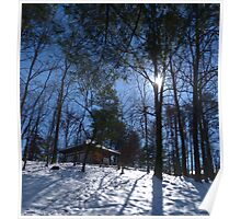 The Place of Peace, in a Peaceful Snowy Setting Poster