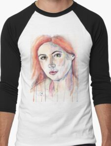 Amelia Pond. Karen Gillan Men's Baseball ¾ T-Shirt