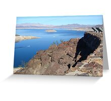 Looking over Lake Mead Greeting Card