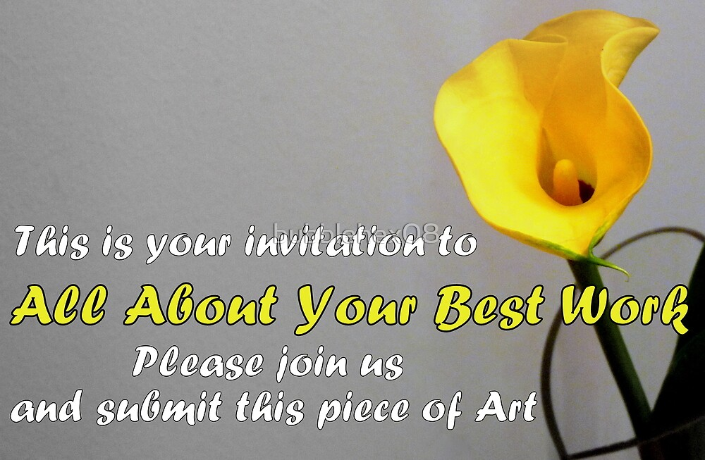 All About Your Best Work banner by bubblehex08