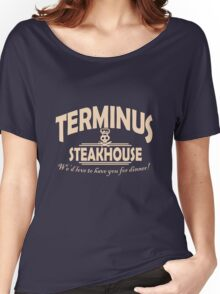 Terminus Steakhouse geek funny nerd Women's Relaxed Fit T-Shirt