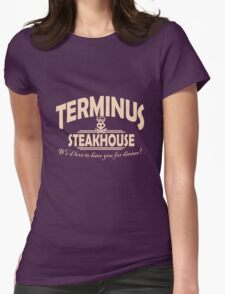 Terminus Steakhouse geek funny nerd Womens Fitted T-Shirt