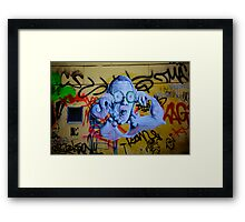 Graffiti Ghost Framed Print
