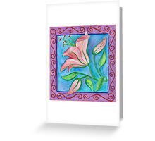 FLOWERTIME 2 - AQUAREL AND COLOR PENCILS Greeting Card