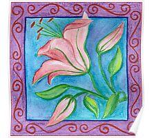 FLOWERTIME 2 - AQUAREL AND COLOR PENCILS Poster
