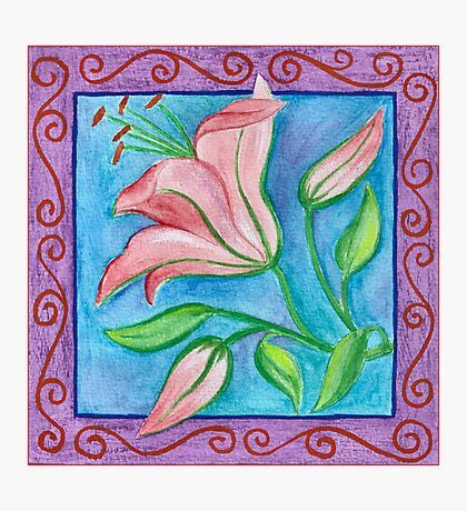FLOWERTIME 2 - AQUAREL AND COLOR PENCILS Photographic Print