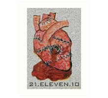 There's a bullet in my heart  lodged in... Art Print