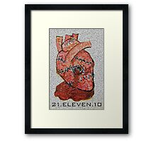 There's a bullet in my heart  lodged in... Framed Print