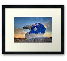 """Bear """"N"""" it for Australia... Framed Print"""