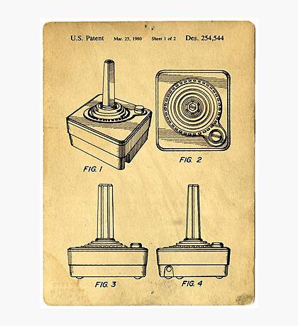 Original Patent for Atari Video Game Controllers Photographic Print