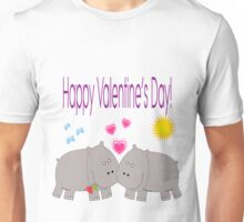Hippo's Valentine's Day tee Unisex T-Shirt
