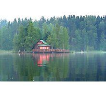 Sunset cottage Photographic Print