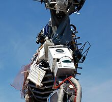 Waste Electrical and Electronic Recycled Cool Robot Man by HotHibiscus