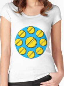 Pills Circle Women's Fitted Scoop T-Shirt