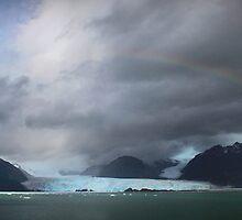 Rainbow over Amalia glacier  by Robyn Lakeman
