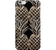 Faux Gold Leaf Pineapple Collage iPhone Case/Skin