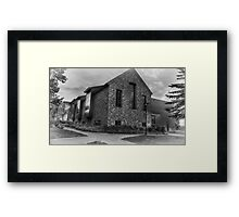 Abram Nesbitt III Academic Commons (end view) Framed Print