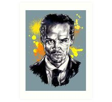 Jim Moriarty + paint Art Print