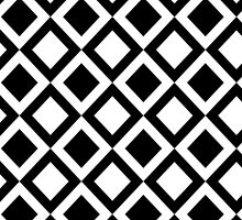 Elegant Black and White Geometric Squares by Blkstrawberry