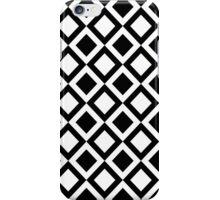Elegant Black and White Geometric Squares iPhone Case/Skin