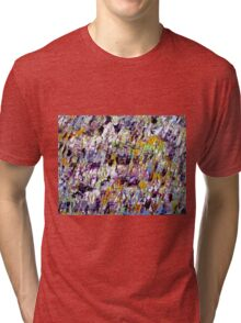 Colorful Abstract Art work Tri-blend T-Shirt