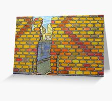 318 - IF ONLY THESE BRICKS COULD TALK IV - DAVE EDWARDS - COLOURED PENCILS & INK - 2011 Greeting Card