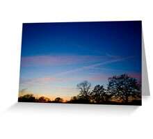 Beautiful Cheshire Sunset Greeting Card